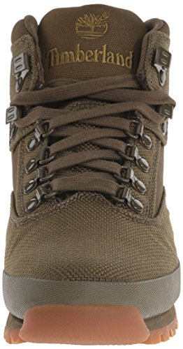 Timberland Men's Euro Hiker Mid Fabric Fashion Sneaker Olive c4miscv