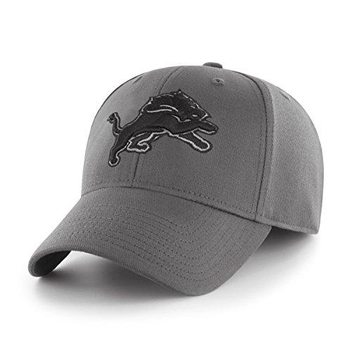 OTS NFL Detroit Lions Comer Center Stretch Fit Hat, Charcoal, Large/X-Large