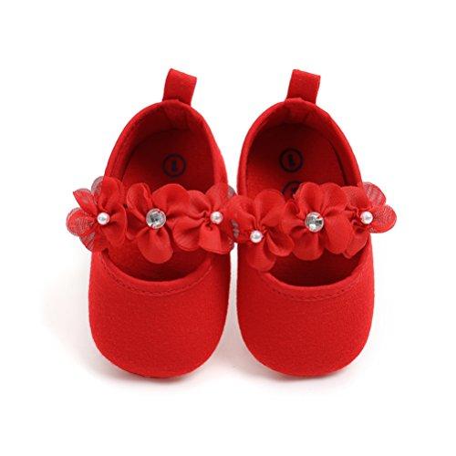 Morbido Scivolo Fascia Per Nuziale Bambino Scarpe Neonata La Anti Battesimo Fiore Rosso 2 Speciali Pezzi Occasioni Festa q0wHWC48