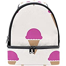GIOVANIOR Raspberry Ice Cream Pattern Lunch Bag Insulated Lunch Box Picnic Bag School Cooler Bag for Men Women Kids