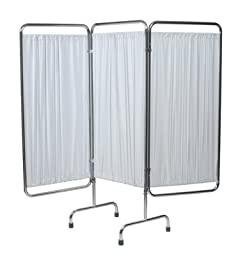Grafco 4297W Folding Privacy Screen, 3 Section