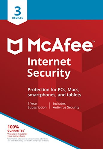 McAfee Internet Security 3 Device [Activation Card by mail]