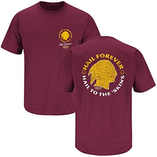 (Washington Football Fans. Hail to the 'Skins Maroon T-Shirt (Small))