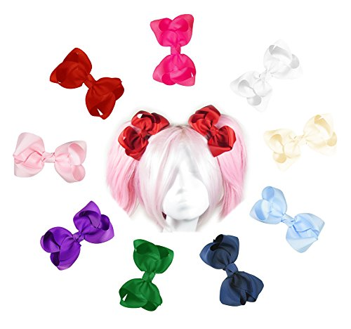 "hipgirl 4"" large boutique hair bow clips"