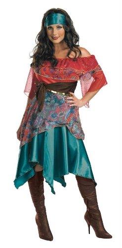 Bohemian Babe Adult Gypsy Costumes (Bohemian Babe Adult Costume - Medium)