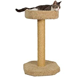 "Molly and Friends ""Feline Recliner Premium Handmade One Tier Sisal Cat Scratching Post Furniture with Bed, Model Scr/b, Beige"
