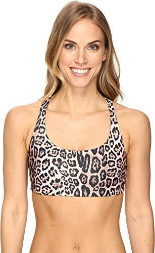 Onzie Women's Chic Bra, Leopard, Print, Tan, M/L