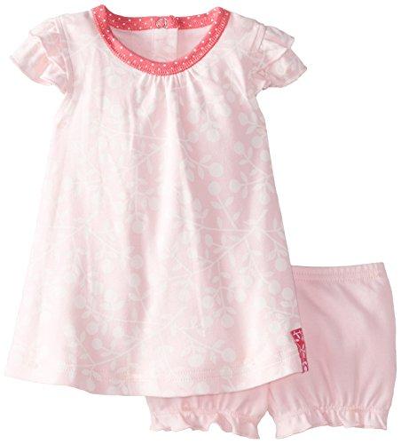 Kushies Baby-Girls Newborn Dress and Bloomer Set Pink, Pink, 09 (Kushies Baby Cap)