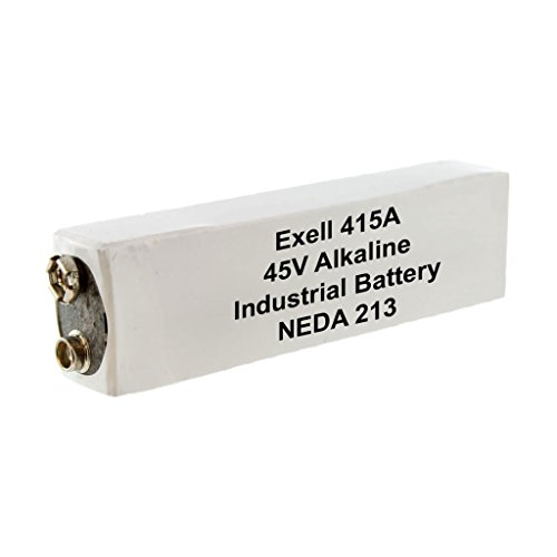Exell Battery 415A Alkaline 45V Battery NEDA 213, 30F20, BLR102, White/Silver by Exell Battery