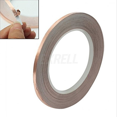 CHENGYIDA High Quality Practical 20 Roll Single Conductive Copper Foil Tape 5MM X 30M Hot,Copper Foil Tape Single Conductive EMI Shielding Adhesive by CHENGYIDA