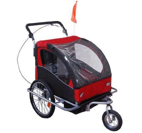 Outsunny - Rimorchio Bici Carrello Bambini Bicicletta Bimbi Gancio Acciaio Sicuro Con Funzione Di Passeggino 5664-0101RB