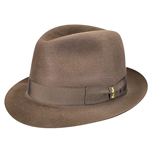 Borsalino Male 114549 Qualita Superiore Fur Felt Fedora Light Brown (Borsalino Mens Hat)