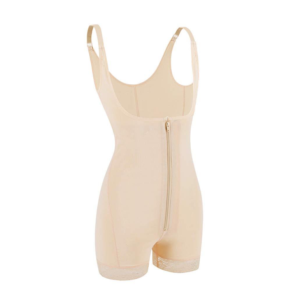 b6bc5d7a95a Amazon.com  Open Bust Tank Shapewear Bodysuit Shaper Tummy Control Women  with Zipper Afterso  Clothing