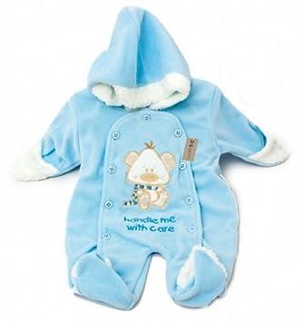 def7a9017784 Baby Boy Fleece All in One Hooded Winter Coat (Blue) (Newborn) (Blue ...