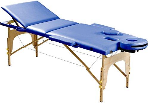 SportPlus Massageliege, schadstoffgeprüftes PU-Kunstleder, 5cm Feinzellschaumstoff, belastbar bis 200kg, inkl. Tragetasche, SP-MAS-001-K