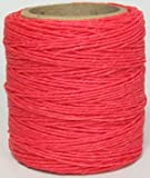 Maine Thread - .020'' Hot Pink Waxed Polycord. 210 feet each. Includes 2 spools.