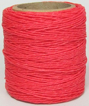 .050 Hot Pink Waxed Polycord 210 feet each Maine Thread Includes 2 spools.