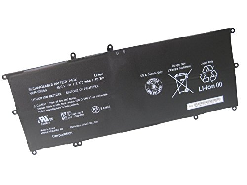 (Dentsing 3170mAh 48Wh VGP-BPS40 battery for Sony Vaio Flip SVF 15A SVF15N17CXB 14A)