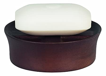 Spirella Max Wood.Spirella Max Light Walnut Soap Dish Wood Dark Brown Height 3 5 Cm X Width 10 5 Cm