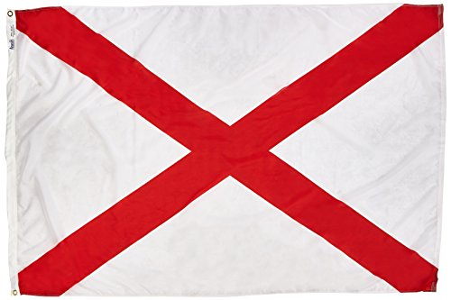 - Annin Flagmakers Model 140070 Alabama State Flag 4x6 ft. Nylon SolarGuard Nyl-Glo 100% Made in USA to Official State Design Specifications.