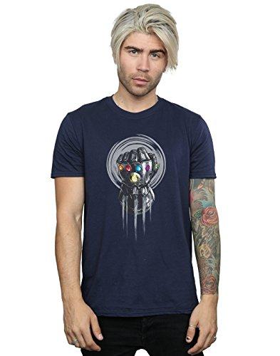 Homme Power T Absolute Marin Cult shirt Infinity War Avengers Bleu Fist HEEAqx4w