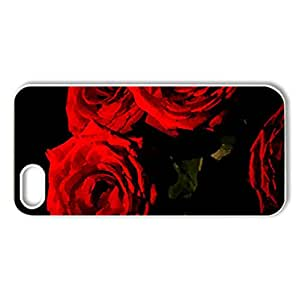 Red Roses! - Case Cover for iPhone 5 and 5S (Flowers Series, Watercolor style, White)
