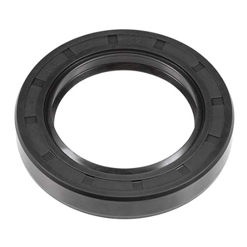 uxcell Oil Seal, TC 50mm x 75mm x 12mm, Nitrile Rubber Cover Double Lip ()
