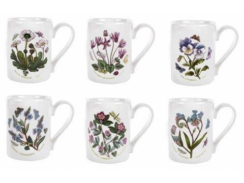 Portmeirion Botanic Garden 10 Ounce Tankard Coffee Mugs (Asst 6)