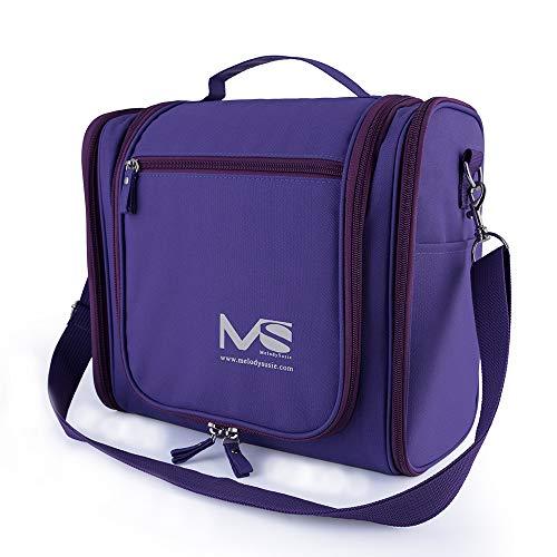 (MelodySusie Large Hanging Travel Toiletry Bag Women Men Waterproof Cosmetic Makeup Organizer Bag Shaving Kit)