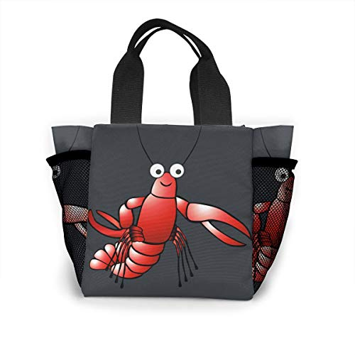 Flame Flora Lunch Bag Cooler Bag Food Insulated Bag Lunch Box Tote Bag Picnic Heat Preservation Cold Bag For Office School Picnic Outdoor Lobster