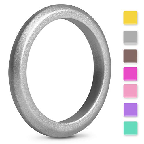 EMBNN Silicone Wedding Ring for Women Men, Thin, Affordable and Stackable Silicone Wedding Bands for Sports, Workout, Fitness, Gym, Exercise, Multiple Colors, Size: 4-10 {Width: 2.7mm, 3.0mm, 5.7mm}