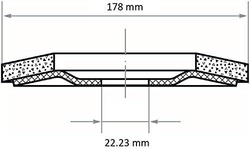 LUKAS Fächerschleifscheibe SLTB für Edelstahl Ø 178 mm Zirkonkorund Korn 40 | schräg