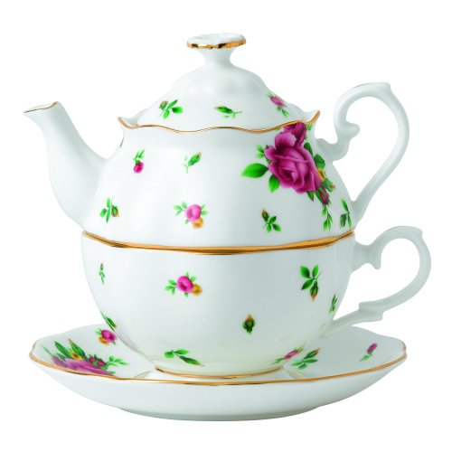 Royal Albert New Country Roses 2 Piece Tea Set, - Piece 2 Roses Set