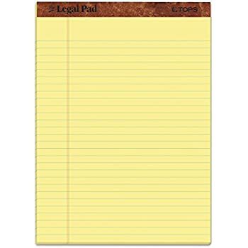 amazon com amazonbasics legal wide ruled 8 1 2 by 11 3 4 legal pad