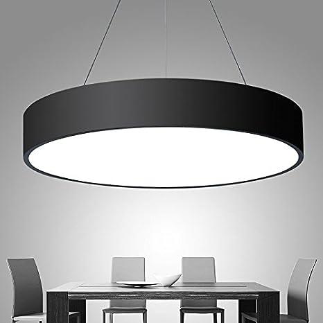 JJ moderna lámpara de techo LED lámpara de techo LED redonda ...
