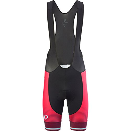 Pearl iZUMi Elite Purs Graphic Bib Shorts, Black/Rogue Red Diffuse, X-Large Elite Bib Short