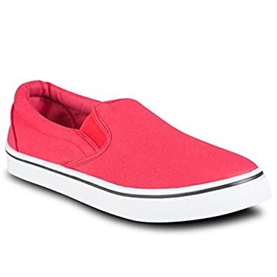 Influence Men's Gore Slip-On Casual Sneaker, JIMMY RED, Size 8
