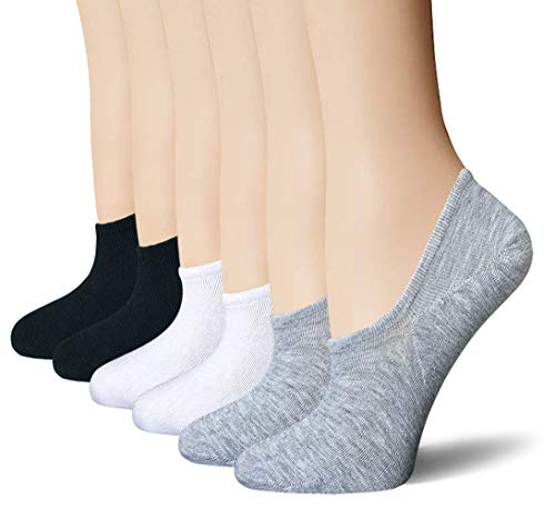 BERING Women's No Show Socks 6-9 Pairs Thin Cotton Hidden Casual Flats Loafers Boat