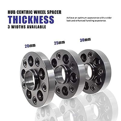 Wheel Spacer - Bolt-On Spacer Kit - 5x112 (20mm) 66.56m w/M14 1.25 Bolt: Automotive