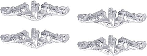 - MilitaryBest Navy Submarine Dolphin Lapel Pin - Silver 4 Pack