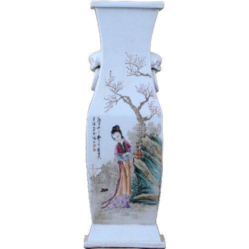 Home decor. Beauty Scene Rectangle Vase. Dimension: 4 x 5 x 16. Pattern: Color Classic.