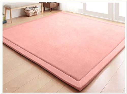 Baby Play Mat, V-mix Handmade weaving Plush Foam Play Crawling Rugs for Baby, Children Play Blanket, Yoga Mat, Exercise Mat-Cushy- Soft & Thick Hypoallergenic, Non-toxic, Reversible (200240CM, Pink) (Mat Princess Puzzle Floor)