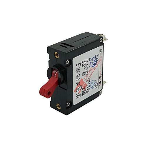 Circuit Breaker Single Pole Panel Mount 35Amp Red Toggle Switch from Ocean - Pole Field Single Mount