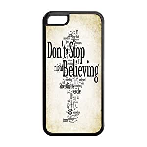 LJF phone case LeonardCustom Protective Hard Snap On TPU Rubber Phone Case for iphone 4/4s , Don't Stop Believing