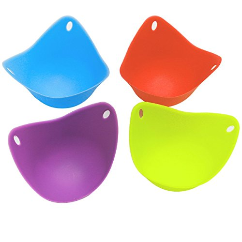Generic Silicone Egg Poacher Cups BPA Free Poaching Pods for Cooking Perfect Poached Eggs Set of 4
