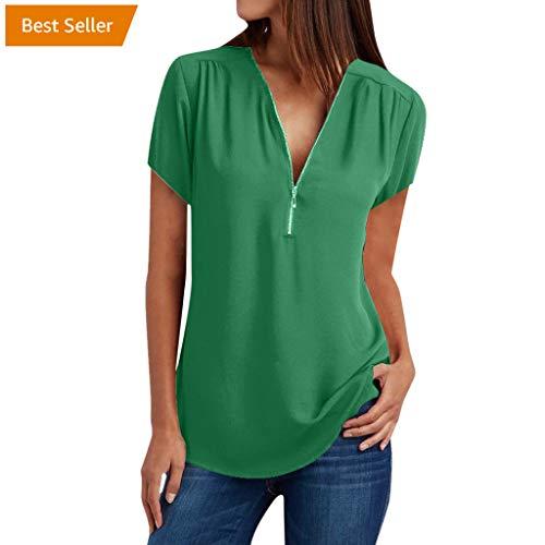 Long Sleeve Shirt Women Short Sleeve Shirt Women 100s Shirts for Women Summer Tops for Women Green