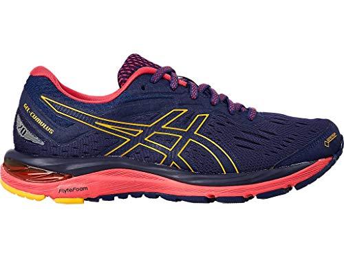 ASICS Women's Gel-Cumulus 20 G-TX Running Shoes, 8.5M, Indigo Blue/Amber