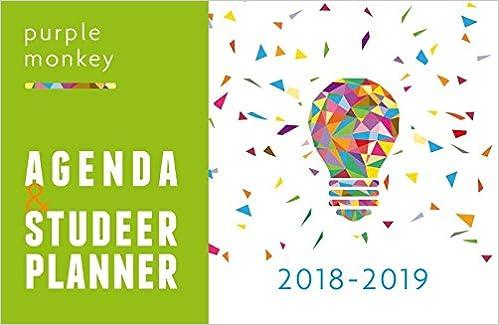 2018-2019 (Purple Monkey Agenda en Studeerplanner): Amazon ...