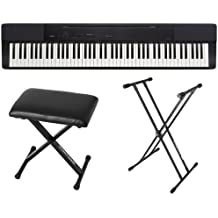 Casio PX150 Black 88 Key Weighted Digital Piano with Bench and Stand