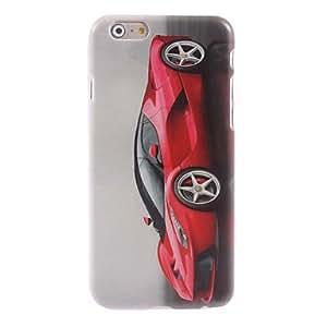 YULIN caja dura roja del diseño del coche para el iPhone 6 Plus